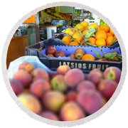 Round Beach Towel featuring the photograph Fresh Fruit by Vicki Spindler