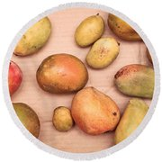 Fresh Mangos Round Beach Towel by Tom Gowanlock