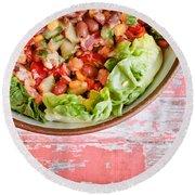 Fresh Salad Round Beach Towel by Tom Gowanlock
