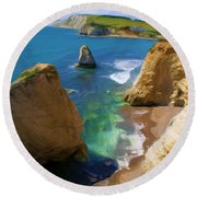 Freshwater Bay Round Beach Towel