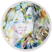 Friends Round Beach Towel by Fabrizio Cassetta