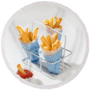 Fries Round Beach Towel