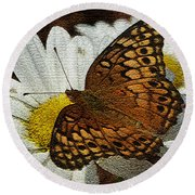 Fritillary Variegated  Round Beach Towel