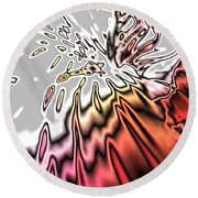 From Grey To Red. Beautiful Abstract Design Round Beach Towel