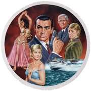 From Russia With Love Round Beach Towel