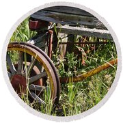 From Rust To Grass Round Beach Towel