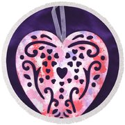 From The Beautiful Heart Of A Child Round Beach Towel by Connie Fox