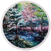 From The Earth Round Beach Towel