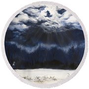 From The Midnight Sky Round Beach Towel