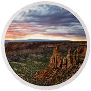 From The Overlook - Colorado National Monument Round Beach Towel