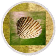 From The Sea Round Beach Towel by Lourry Legarde