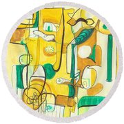 From Within 10 Round Beach Towel