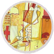 From Within 3 Round Beach Towel