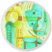 From Within 4 Round Beach Towel