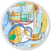 From Within 6 Round Beach Towel