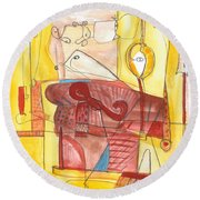 From Within 7 Round Beach Towel