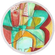 From Within 8 Round Beach Towel