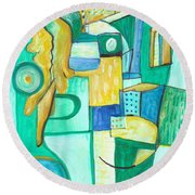 From Within 9 Round Beach Towel