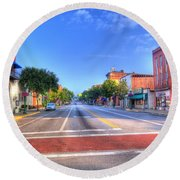 Round Beach Towel featuring the photograph Front Street Marietta by Jonny D