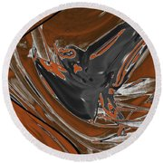 Frost And Woodsmoke 1 Round Beach Towel