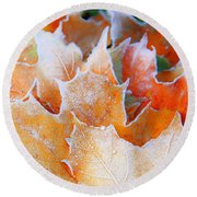 Frost Touched Round Beach Towel