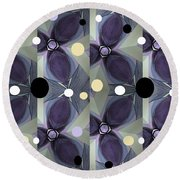 Frosted Purple Flower Round Beach Towel