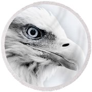 Frosty Eagle Round Beach Towel