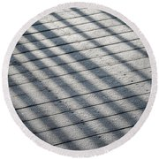 Frosty Irish Morning Round Beach Towel
