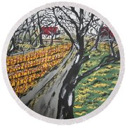 Frosty Morning Round Beach Towel
