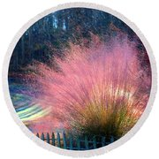 Frosty Scene Round Beach Towel