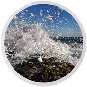 Froth And Bubble Round Beach Towel
