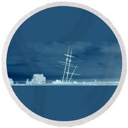 Frozen In Time Round Beach Towel by David and Lynn Keller