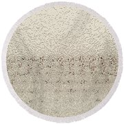 Frozen Window Round Beach Towel