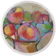 Fruit Bowl #5 Round Beach Towel
