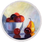 Fruit Bowl Round Beach Towel