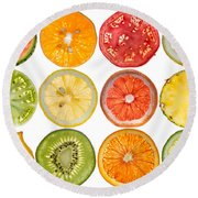 Fruit Market Round Beach Towel