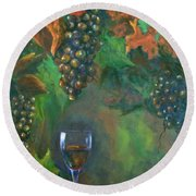 Fruit Of The Vine Round Beach Towel