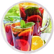 Fruit Punch  Round Beach Towel