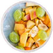 Fruit Salad Round Beach Towel by Tom Gowanlock