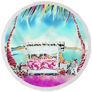 Fruit Stand Round Beach Towel