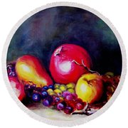 Fruitfulness Round Beach Towel by Hazel Holland