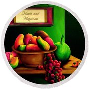 Fruits Still Life Round Beach Towel
