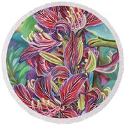 Full Blossom Orchid Tree Round Beach Towel