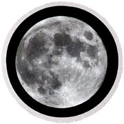 Round Beach Towel featuring the photograph Full Moon by Aaron Berg