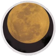 Full Moon II Round Beach Towel