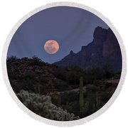 Full Moon Rising  Round Beach Towel by Saija  Lehtonen