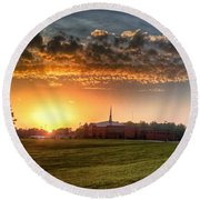 Fumc Sunset Round Beach Towel