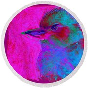Funky Kookaburra Australian Bird Art Prints Round Beach Towel