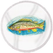 Funky Trout Round Beach Towel
