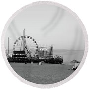 Funtown Pier - Jersey Shore Round Beach Towel